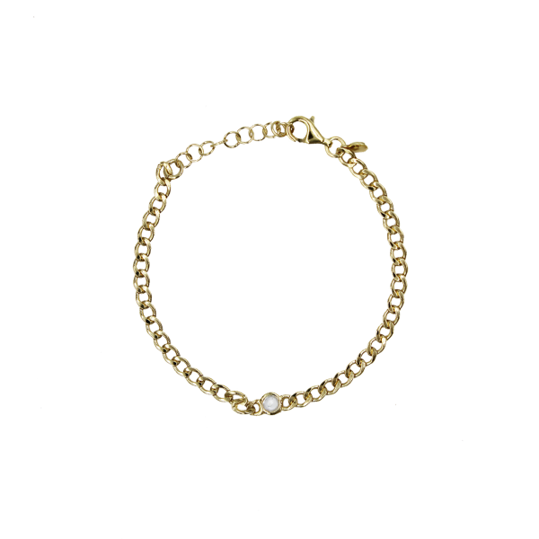 PULSEIRA WOF BASIC COLLECTION PRATA DOURADA C/ ZIRCONIA 925