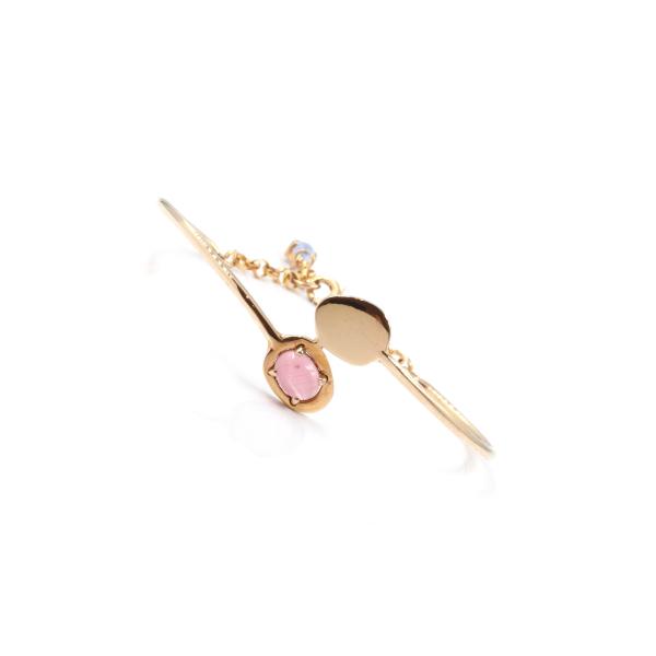 Pulseira em prata 925 rosa com pedra hidrotermal