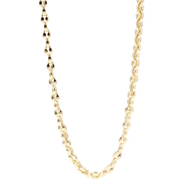 Colar em aço, dourado, 50cm