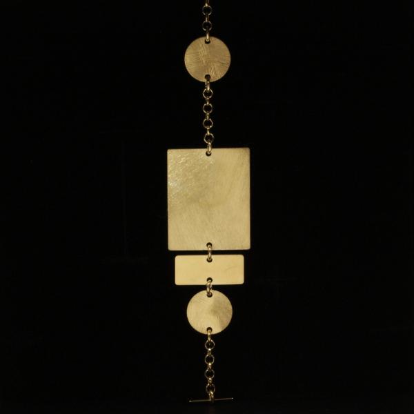 Pulseira em prata 925, dourada.