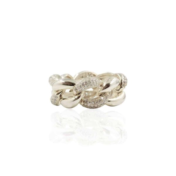 Anel charm silver
