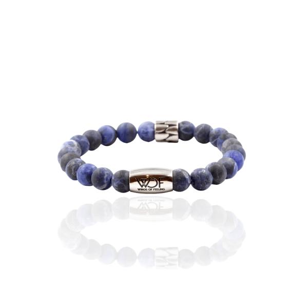 Pulseira em pedra sodalite azul