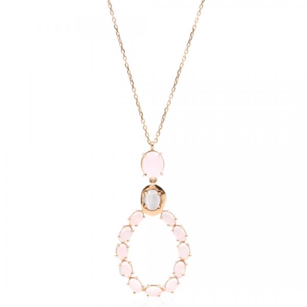 Colar Spring pink oval