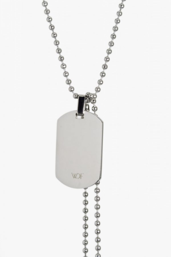 Conjunto de colar e porta-chave WOF,